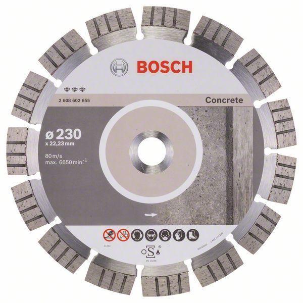 Алмазный отрезной круг по бетону Bosch Best for Concrete 230x22.23x2.4x15 мм