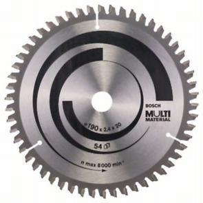 Пильный диск Bosch Multi Material 190х20/16, Z54