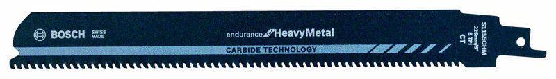 Сабельное полотно по металлу Bosch Endurance for HeavyMetal, Carbide Technology S 1155 CHM, 10 шт