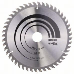 Пильный диск Bosch Optiline Wood 210 x 30, Z48