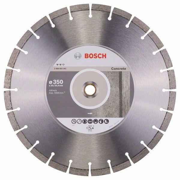 Алмазный отрезной круг по бетону Bosch Expert for Concrete 350x20/25.4x3.2x12 мм