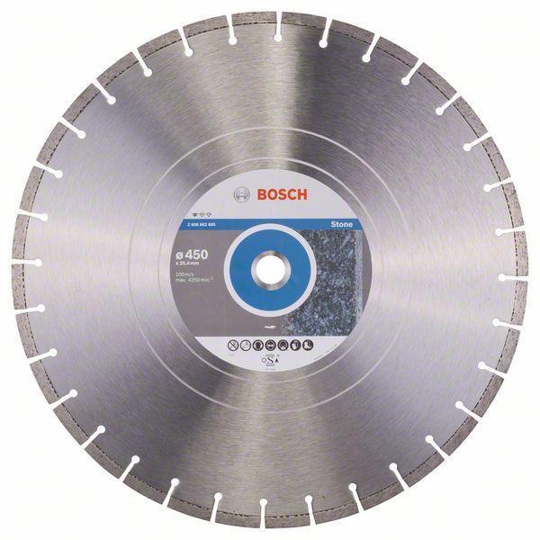 Алмазный отрезной круг по камню Bosch Standard for Stone 450x25.4x3.6x10 мм