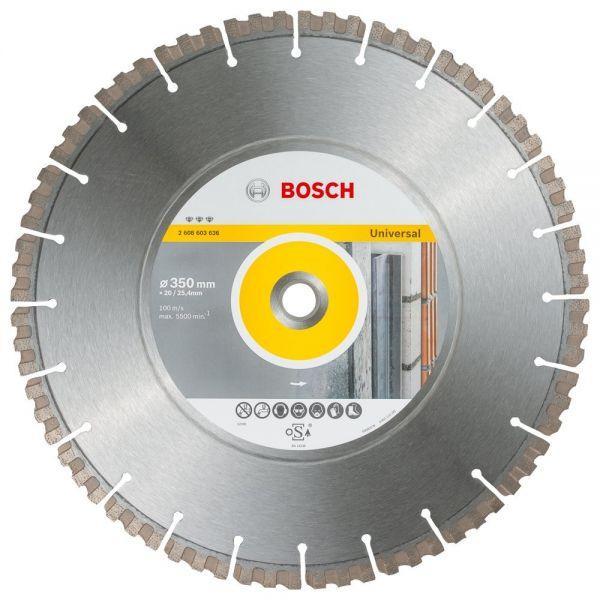 Алмазный отрезной круг универсальный Bosch Best for Universal and Metal 350x20/25.4x3.3x15 мм