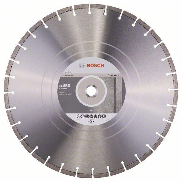 Алмазный отрезной круг по бетону Bosch Standard for Concrete 450x25.4x3.6x10 мм