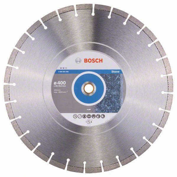 Алмазный отрезной круг по камню Bosch Expert for Stone 400x20/25.4x3.2x12 мм