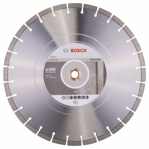 Алмазный отрезной круг по бетону Bosch Expert for Concrete 400x20/25.4x3.2x12 мм