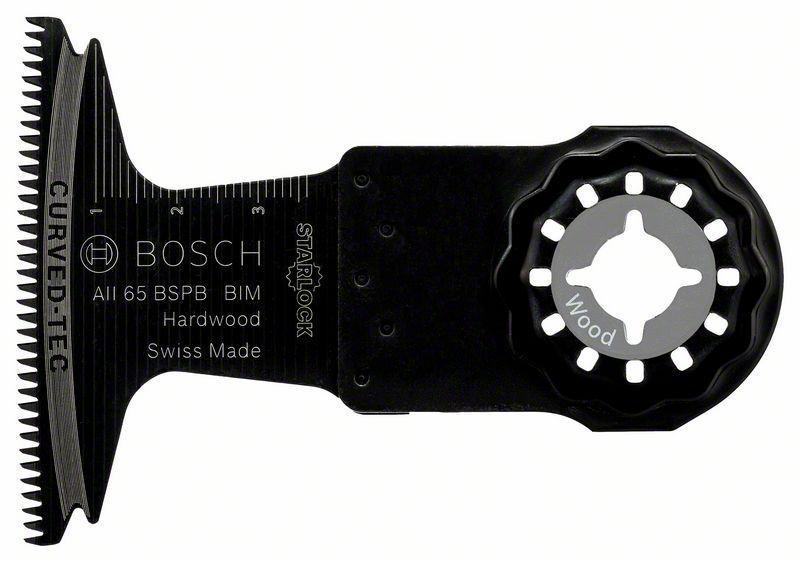 Погружное пильное полотно по дереву Bosch Starlock BIM AII 65 BSPB Hard Wood, 5 шт