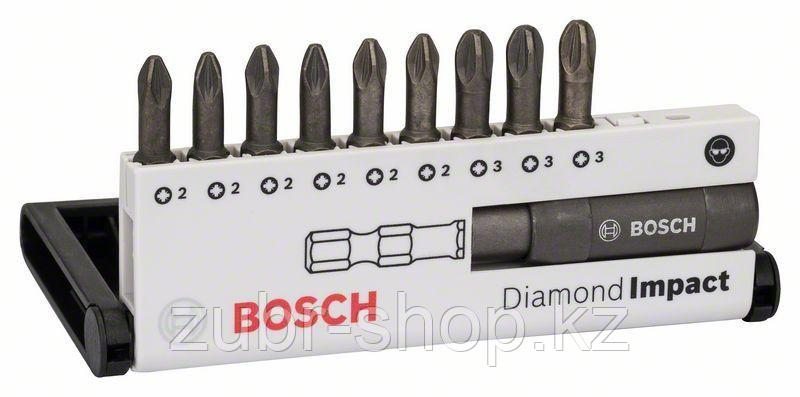 Набор ударных бит Bosch Diamond Impact PZ, 10 шт