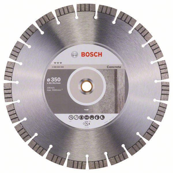 Алмазный отрезной круг по бетону Bosch Best for Concrete 350x20/25.4x3.2x15 мм