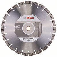 Алмазный отрезной круг по бетону Bosch Best for Concrete 350x20/25.4x3.2x15 мм, фото 1