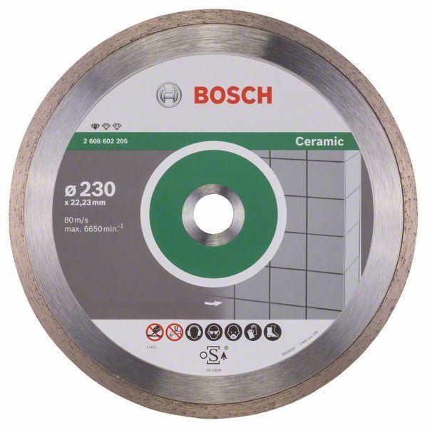 Алмазный отрезной круг по керамике Bosch Standard for Ceramic 230x22.23x1.6x7 мм, 10 шт