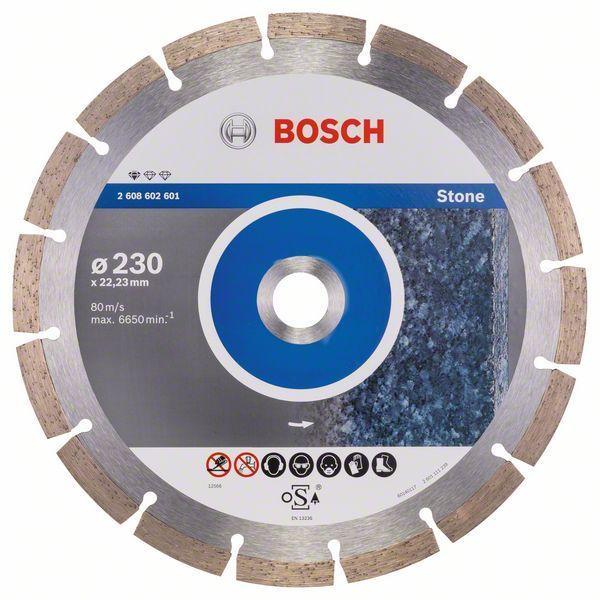 Алмазный отрезной круг по камню Bosch Standard for Stone 230x22.23x2.3x10 мм, 10 шт