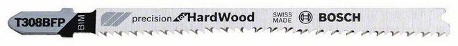 Пилочка для лобзика Bosch Precision for Hard Wood T 308 BFP, 5 шт