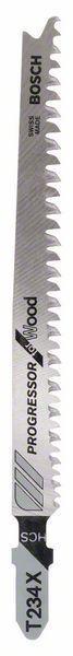 Пилочка для лобзика Bosch Progressor for Wood T 234 X, 25 шт