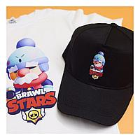 Детская футболка бейсболка Brawl Stars