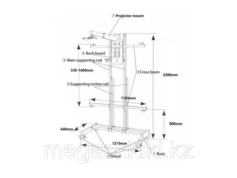 Мобильная стойка INTECH WJ2200B