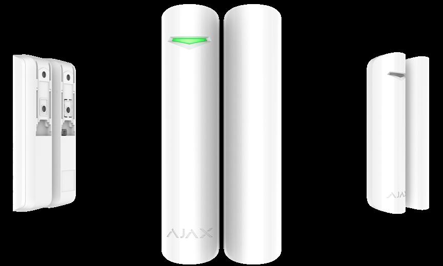 Беспроводной датчик открытия с сенсором удара и наклона DoorProtect Plus White