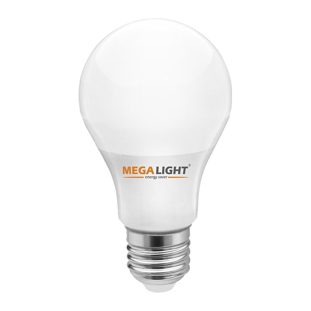 """Лампа LED A60 """"Standart""""  10w 230v 4000K E27 MEGALIGHT (100)"""