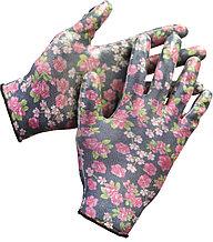 Перчатки GRINDA садовые, прозрачное нитриловое покрытие, размер L-XL, черные