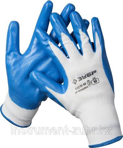 """Перчатки ЗУБР """"МАСТЕР"""" маслостойкие для точных работ, с нитриловым покрытием, размер M (8), фото 2"""