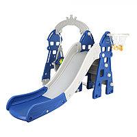 Детский игровой комплекс Pituso Замок Синий/серый