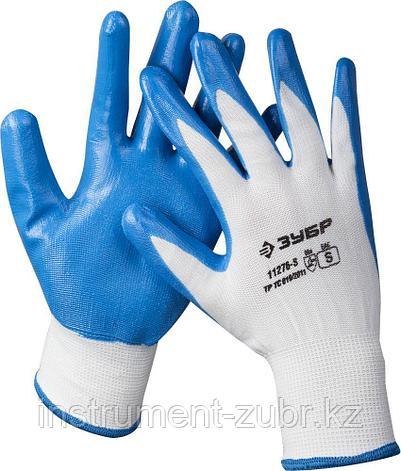 """Перчатки ЗУБР """"МАСТЕР"""" маслостойкие для точных работ, с нитриловым покрытием, размер S (7), фото 2"""