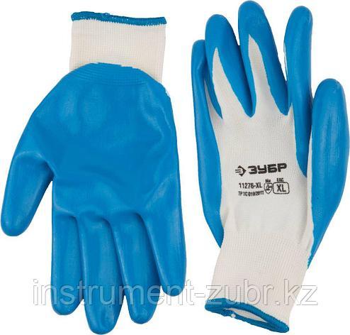 """Перчатки ЗУБР """"МАСТЕР"""" маслостойкие для точных работ, с нитриловым покрытием, размер XL (10), фото 2"""
