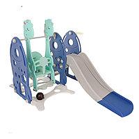 Детский игровой комплекс Pituso Ракета (горка, качели, кольцо) Синий