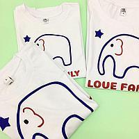 Семейные футболки Папа+Мама+Дети