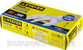 """Перчатки STAYER """"PROFI"""" нитриловые экстратонкие, L, 100шт, фото 2"""