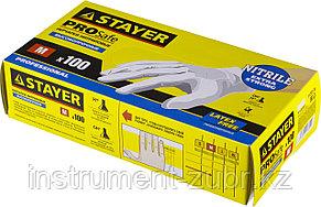 """Перчатки STAYER """"PROFI"""" нитриловые экстратонкие, M, 100шт, фото 2"""