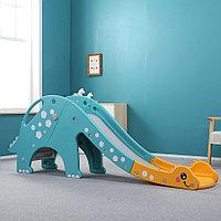 Детская горка Pituso Динозавр зеленый