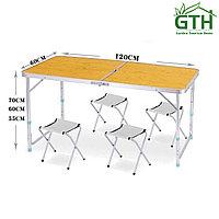 Походные столы с 4-мя табуретками 120х60 см