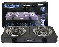Плитка электрическая двухконфорочная / masima / электроплита / плита