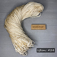 Полиэфирный шнур без сердечника, 3мм, пасма светлоый