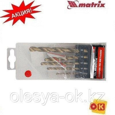 Набор сверл по металлу, 3-4-5-6-8 мм, HSS, 5 шт, пластиковая коробка, цилиндрический хвостовик, фото 2