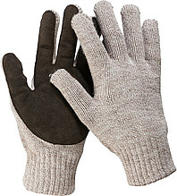 Перчатки утепленные ЗУБР ТАЙГА, размер S-M, со спилковым наладонником.