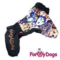 """Комбинезон ForMyDogs """"Dogs"""" для мальчиков (Черный) - А0"""