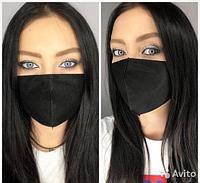 Черные стильные многоразовые стирающиеся маски
