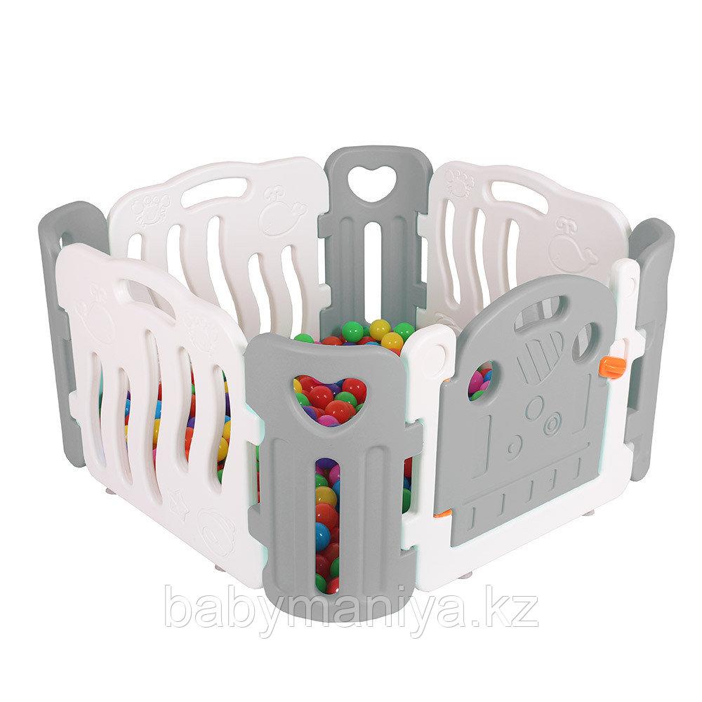 Детский манеж-ограждение Pituso (без шаров) серый/бежевый