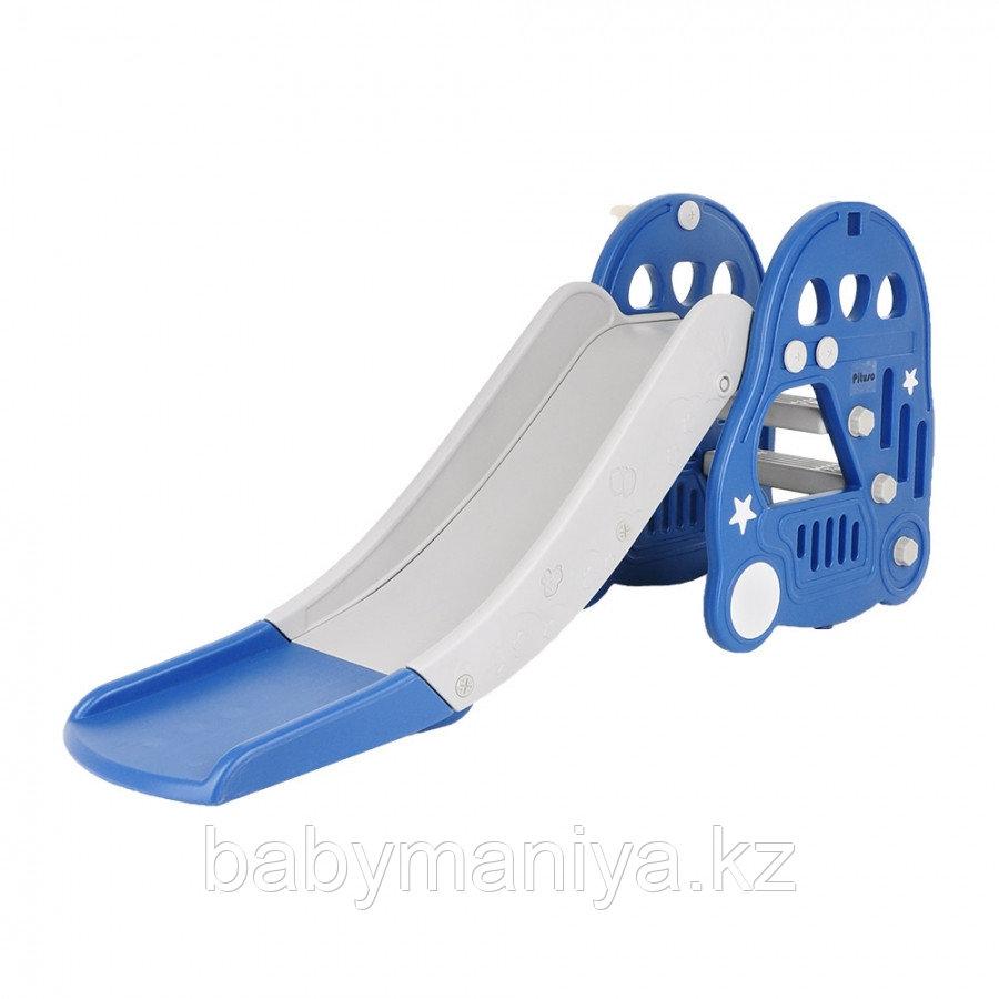Горка Pituso с баскетбольным кольцом Машинка BLUE/ Синий