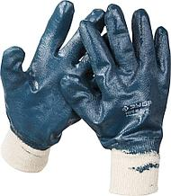 Перчатки ЗУБР рабочие с манжетой, с полным нитриловым покрытием, размер M (8)