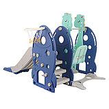 Горка-комплекс Pituso Ракета (горка, качели,баскет.кольцо)BLUE/Синий, фото 3
