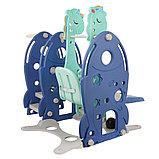 Горка-комплекс Pituso Ракета (горка, качели,баскет.кольцо)BLUE/Синий, фото 4