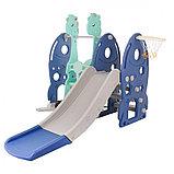 Горка-комплекс Pituso Ракета (горка, качели,баскет.кольцо)BLUE/Синий, фото 6