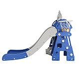 Горка-комплекс Pituso  ЗАМОК (горка, качели) (звук)185*146*122h Синий/ серый, фото 2