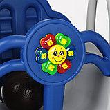 Горка-комплекс Pituso  ЗАМОК (горка, качели) (звук)185*146*122h Синий/ серый, фото 5