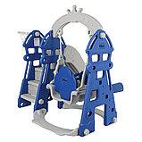 Горка-комплекс Pituso  ЗАМОК (горка, качели) (звук)185*146*122h Синий/ серый, фото 6
