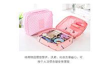 Органайзер для путешествий (дорожная сумка-косметичка) розовый, фото 3