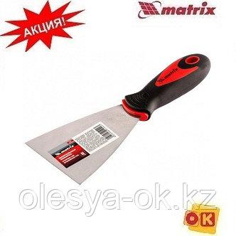 Шпательная лопатка 80 мм, нерж. сталь. MATRIX, фото 2